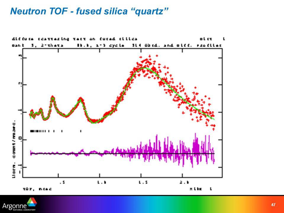 Neutron TOF - fused silica quartz