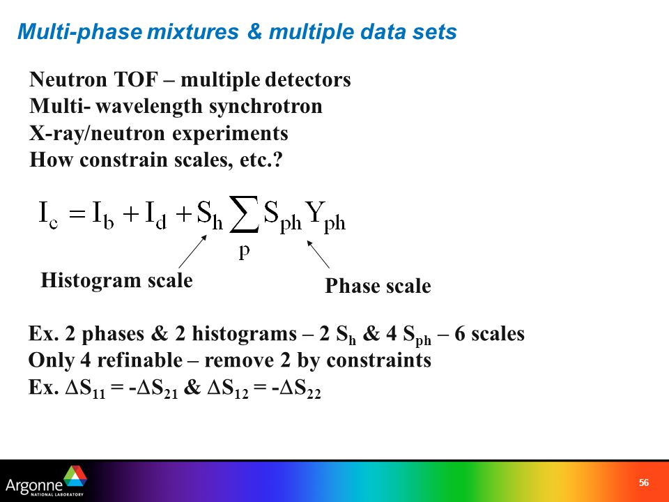 Multi-phase mixtures & multiple data sets