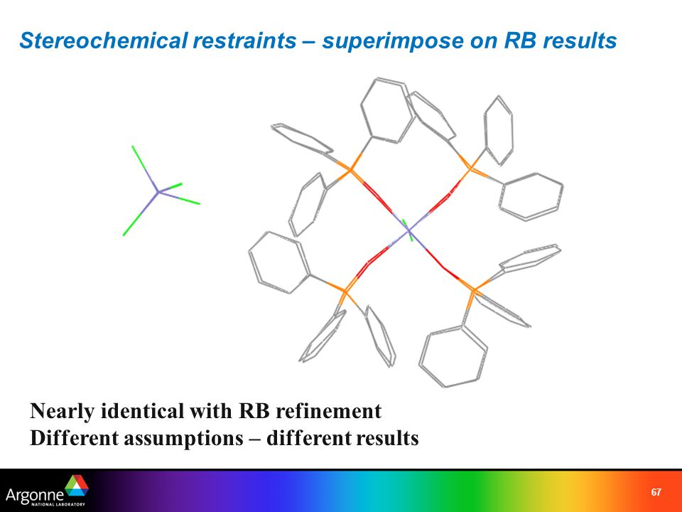 Stereochemical restraints – superimpose on RB results