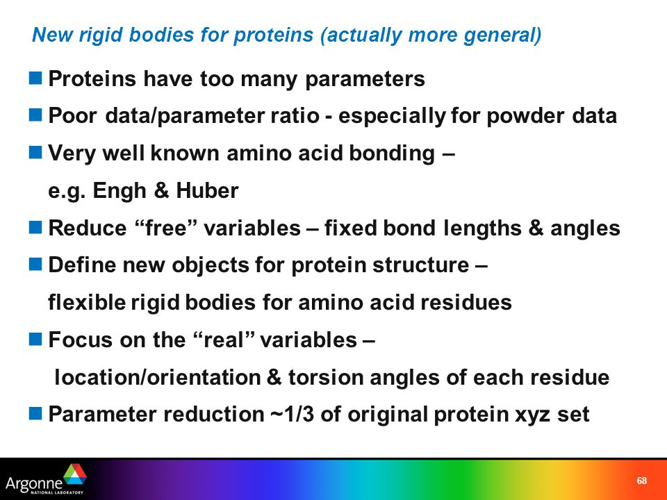 New rigid bodies for proteins (actually more general)