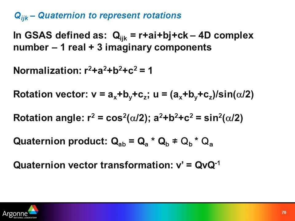 Qijk – Quaternion to represent rotations