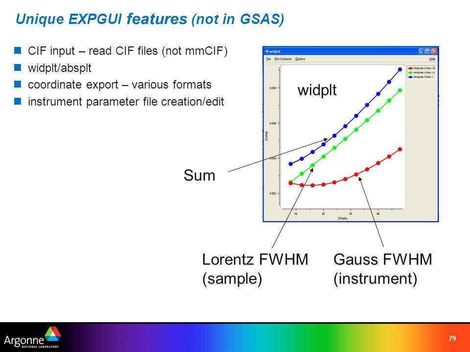 Unique EXPGUI features (not in GSAS)