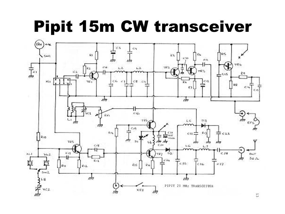 Pipit 15m CW transceiver