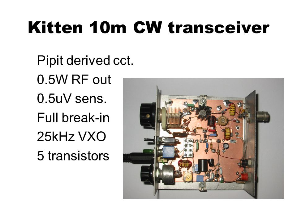 Kitten 10m CW transceiver