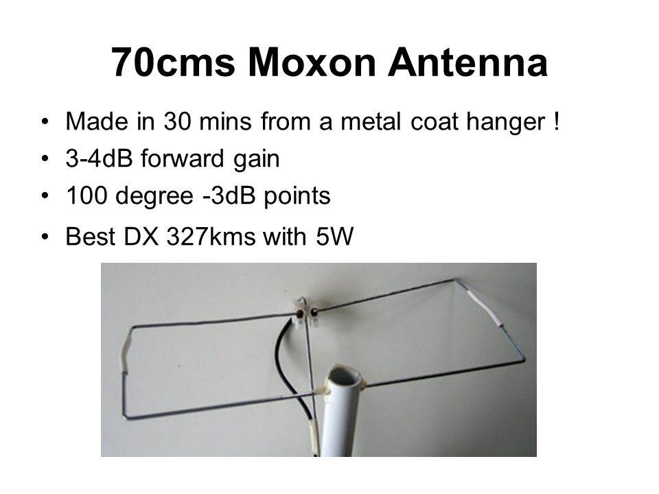 70cms Moxon Antenna Made in 30 mins from a metal coat hanger !