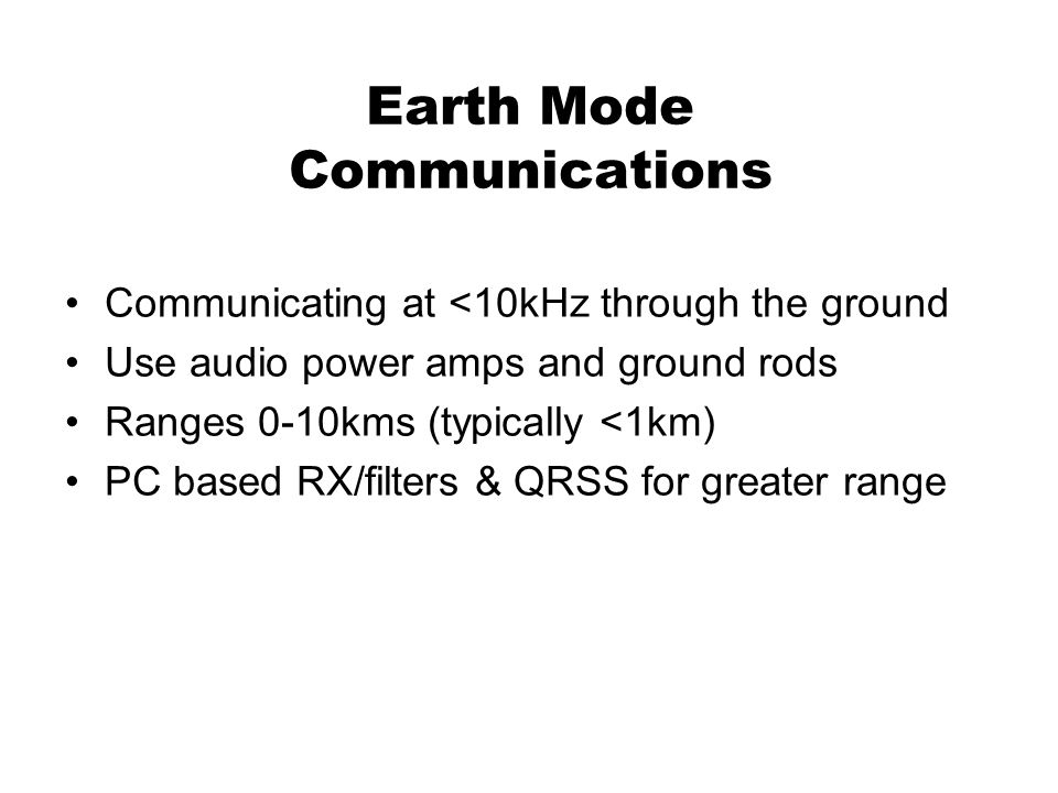 Earth Mode Communications