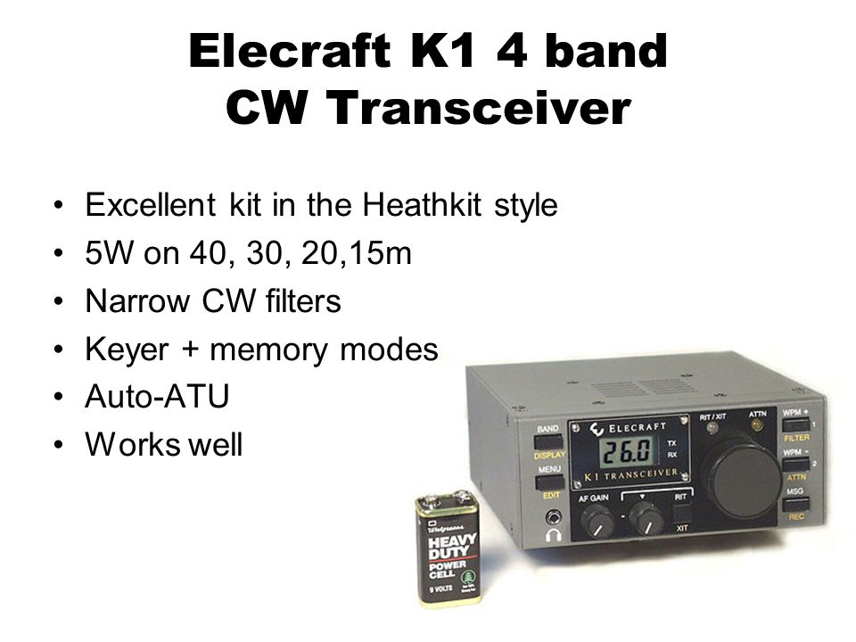 Elecraft K1 4 band CW Transceiver