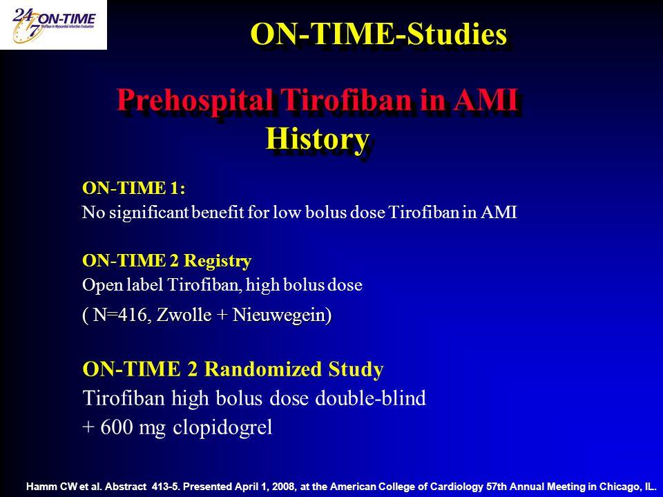 Prehospital Tirofiban in AMI History