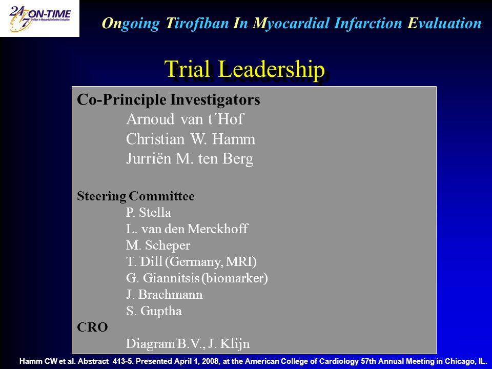 Ongoing Tirofiban In Myocardial Infarction Evaluation