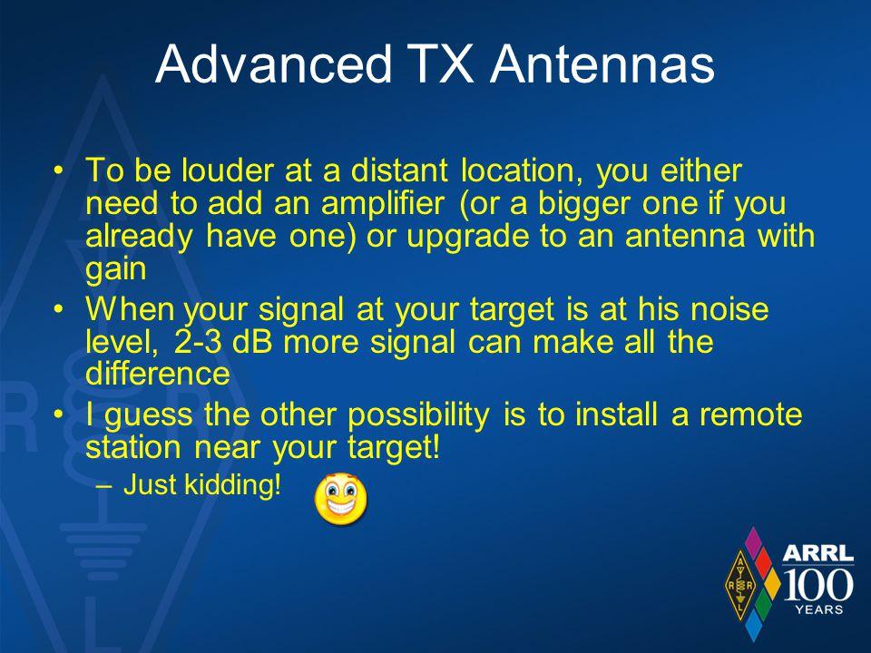 Advanced TX Antennas