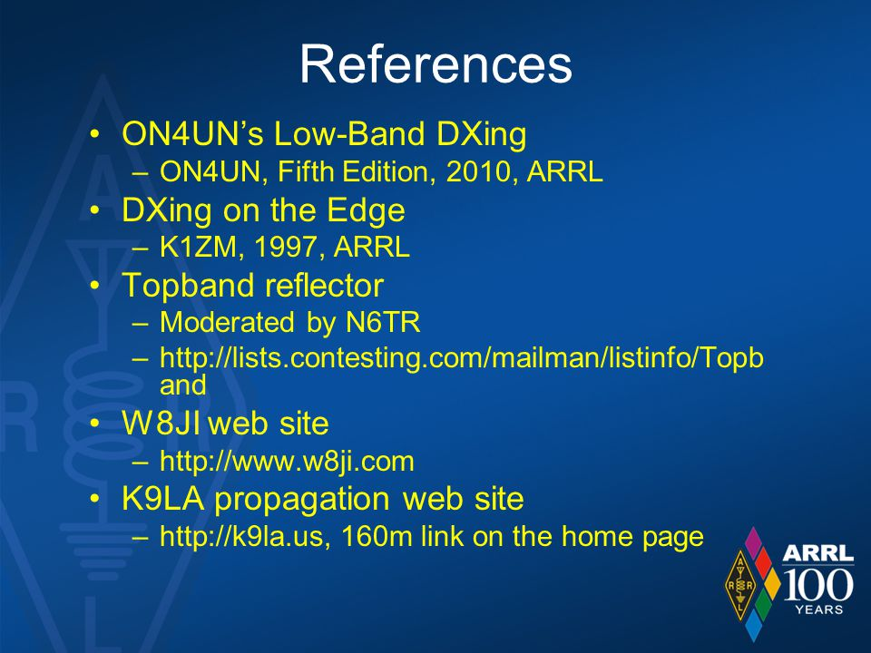 References ON4UN's Low-Band DXing DXing on the Edge Topband reflector