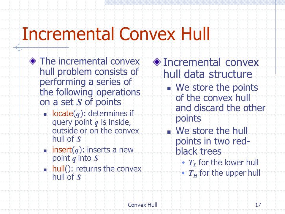 Incremental Convex Hull