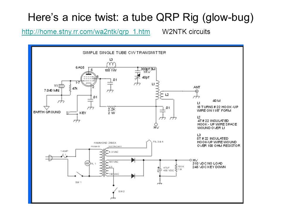 Here's a nice twist: a tube QRP Rig (glow-bug)