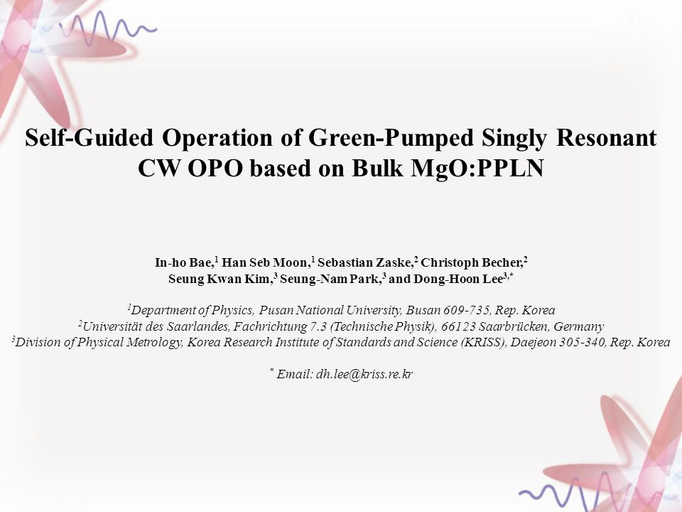 Self-Guided Operation of Green-Pumped Singly Resonant