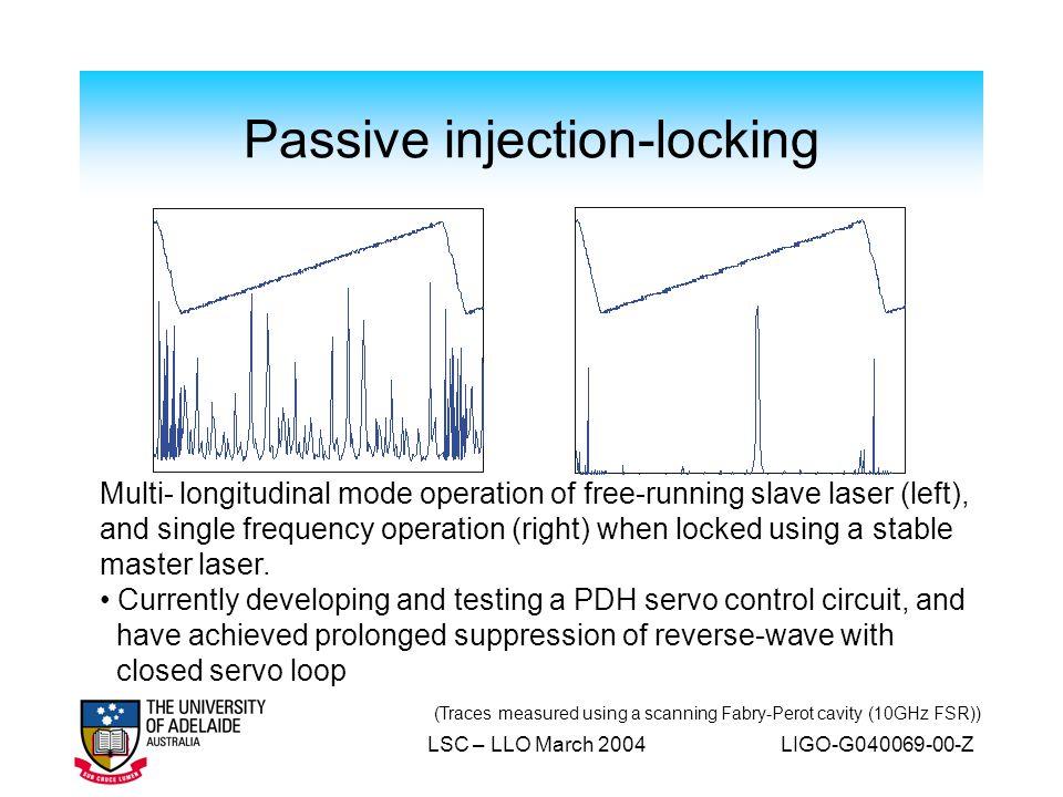 Passive injection-locking