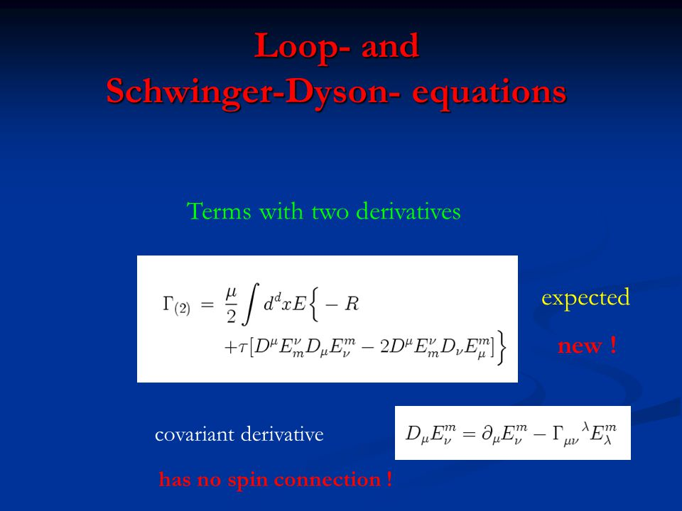 Loop- and Schwinger-Dyson- equations