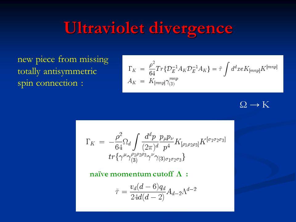 Ultraviolet divergence