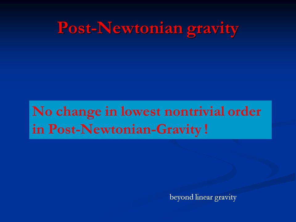 Post-Newtonian gravity