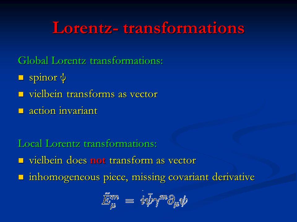 Lorentz- transformations