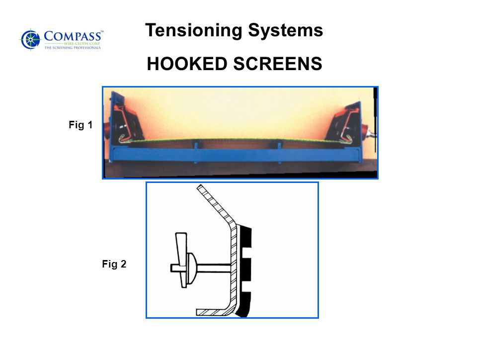 Tensioning Systems HOOKED SCREENS