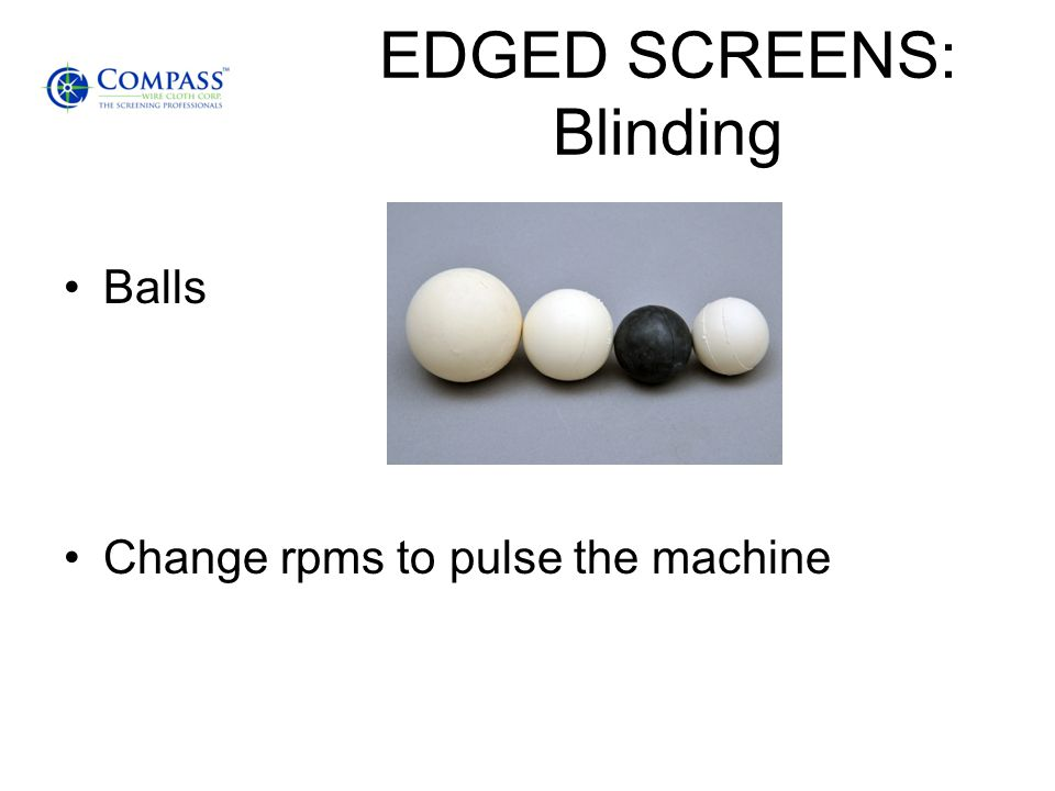 EDGED SCREENS: Blinding