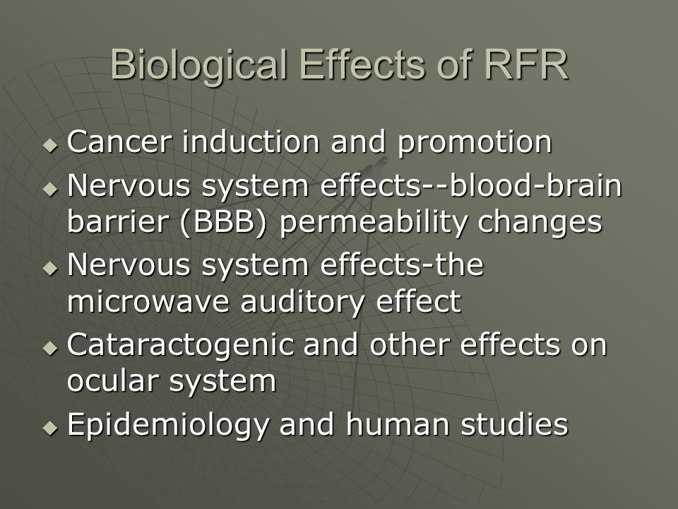 Biological Effects of RFR