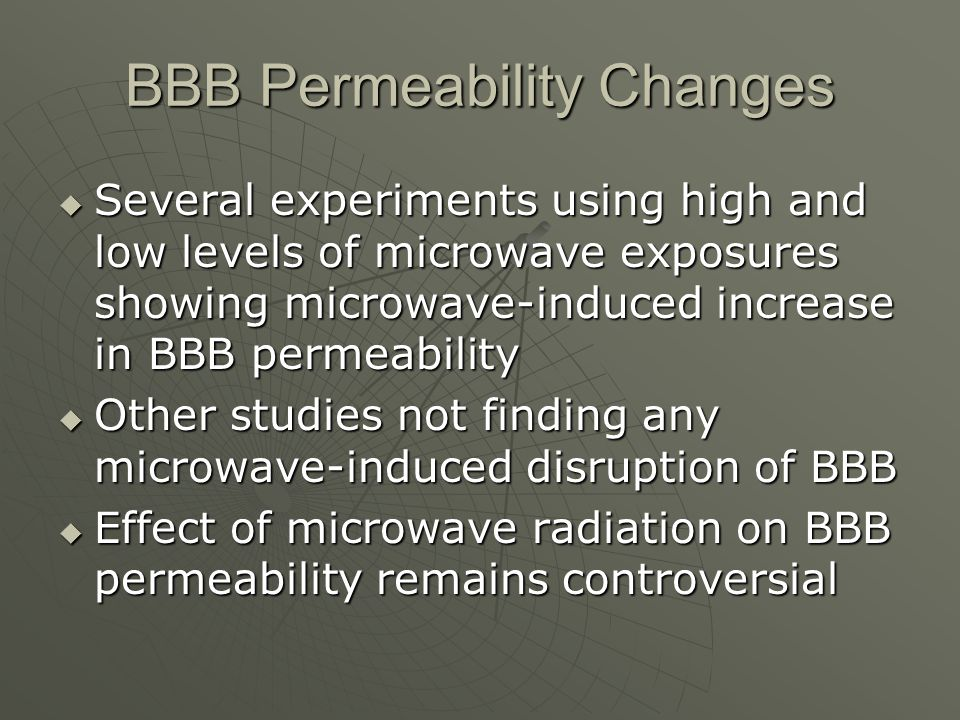 BBB Permeability Changes