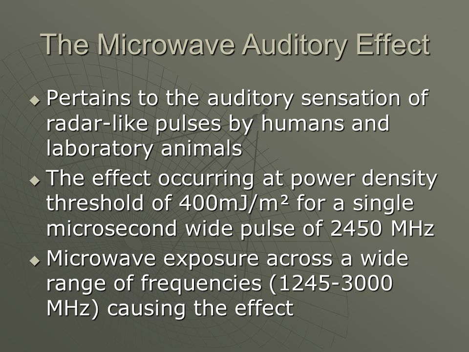 The Microwave Auditory Effect