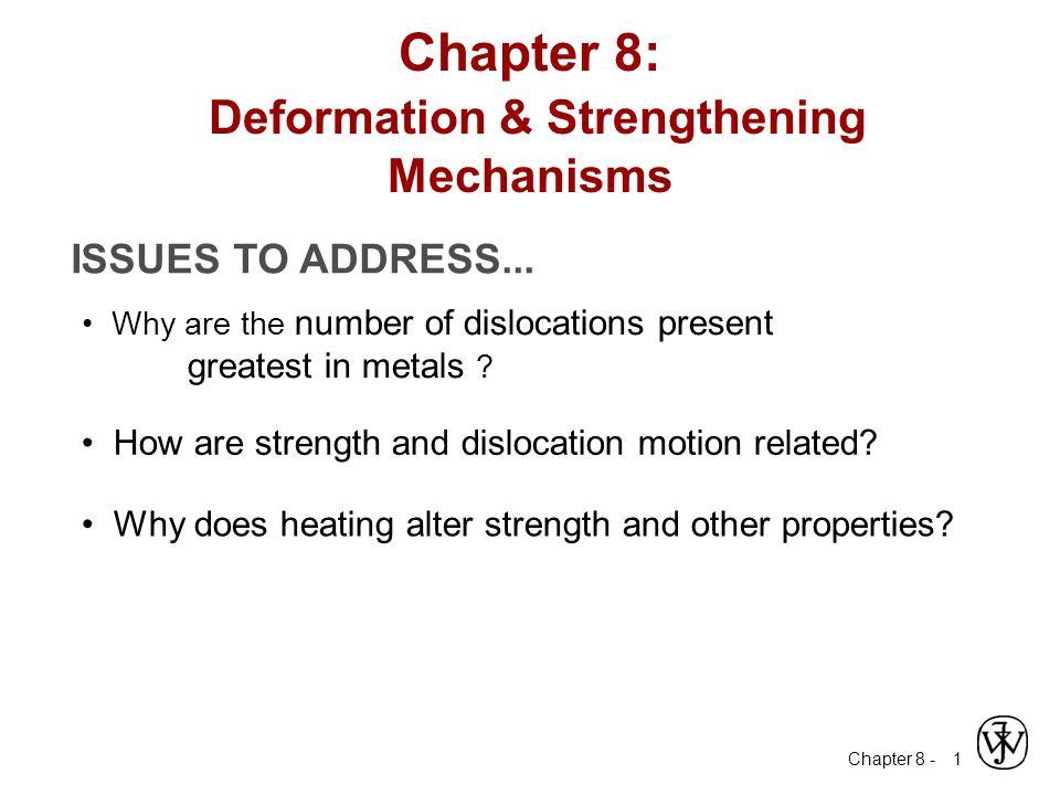 Chapter 8: Deformation & Strengthening Mechanisms