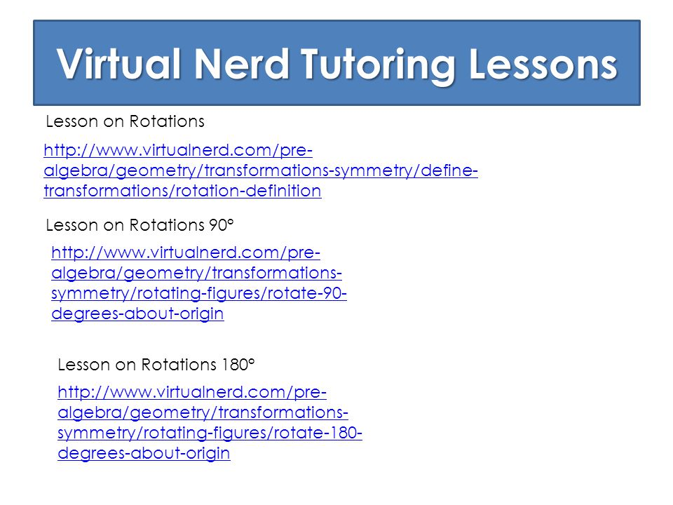 Virtual Nerd Tutoring Lessons