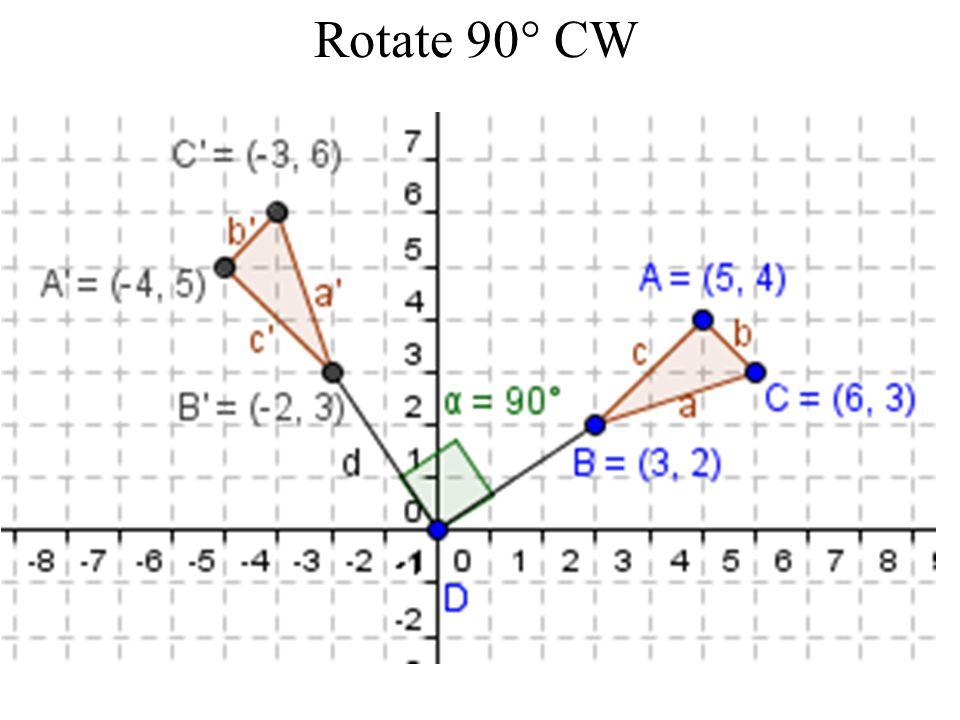 Rotate 90 CW