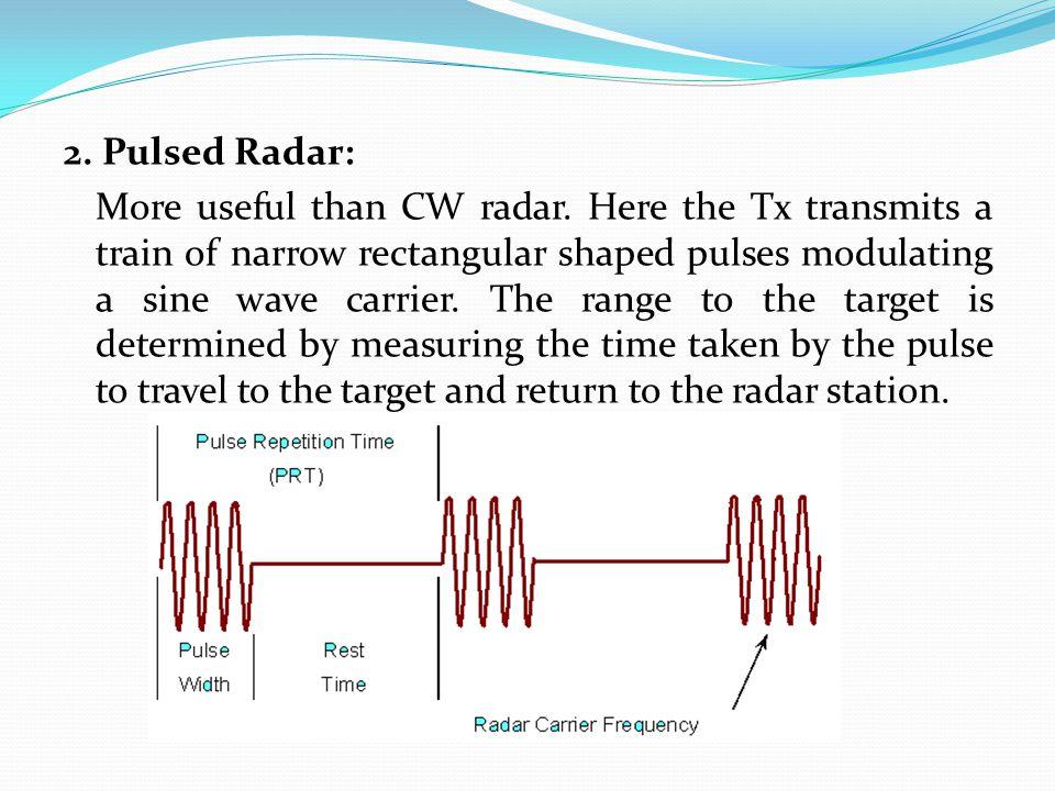2. Pulsed Radar: