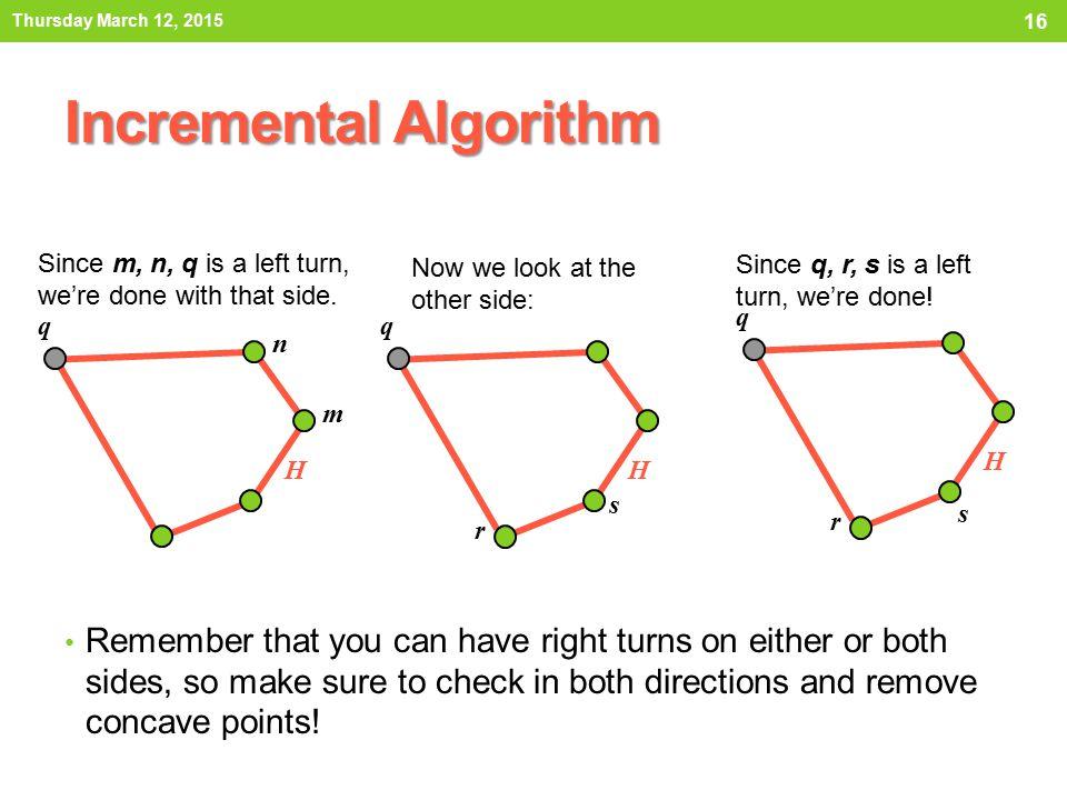 Incremental Algorithm