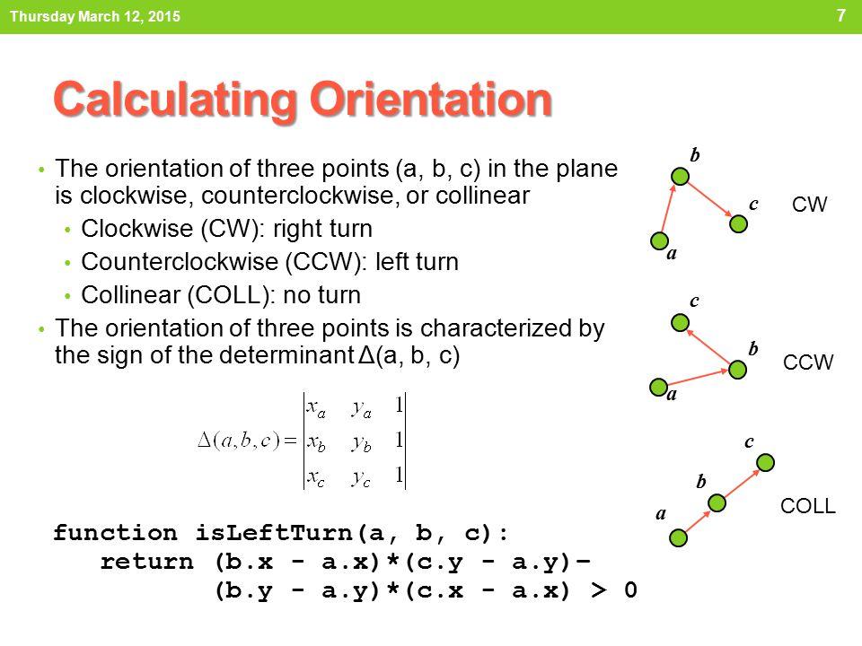 Calculating Orientation