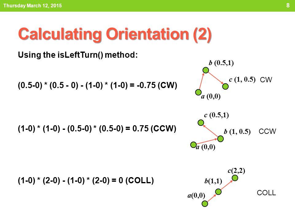 Calculating Orientation (2)