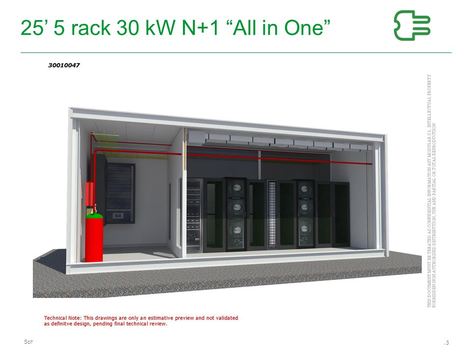 25' 5 rack 30 kW N+1 All in One