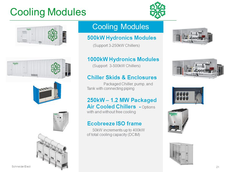 Cooling Modules Cooling Modules 500kW Hydronics Modules