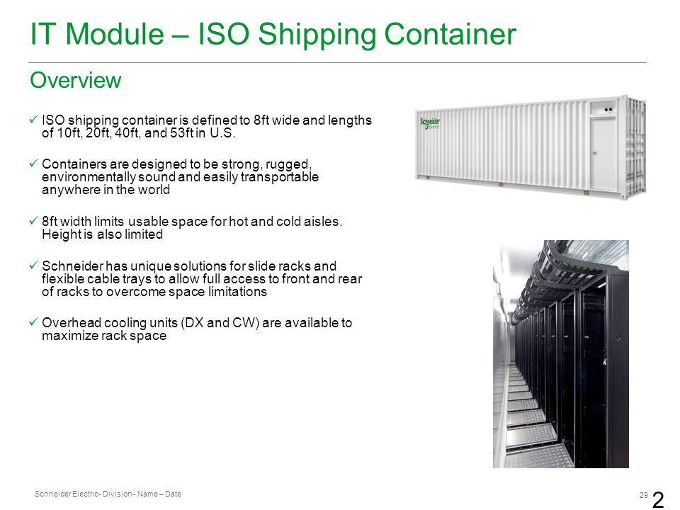 IT Module – ISO Shipping Container