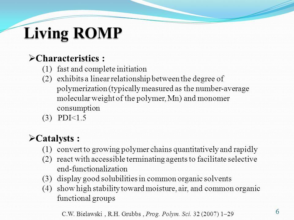 C.W. Bielawski , R.H. Grubbs , Prog. Polym. Sci. 32 (2007) 1–29