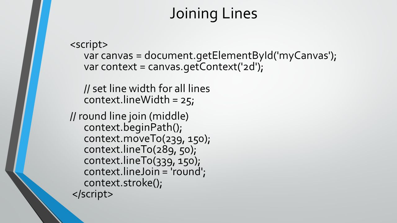 Joining Lines