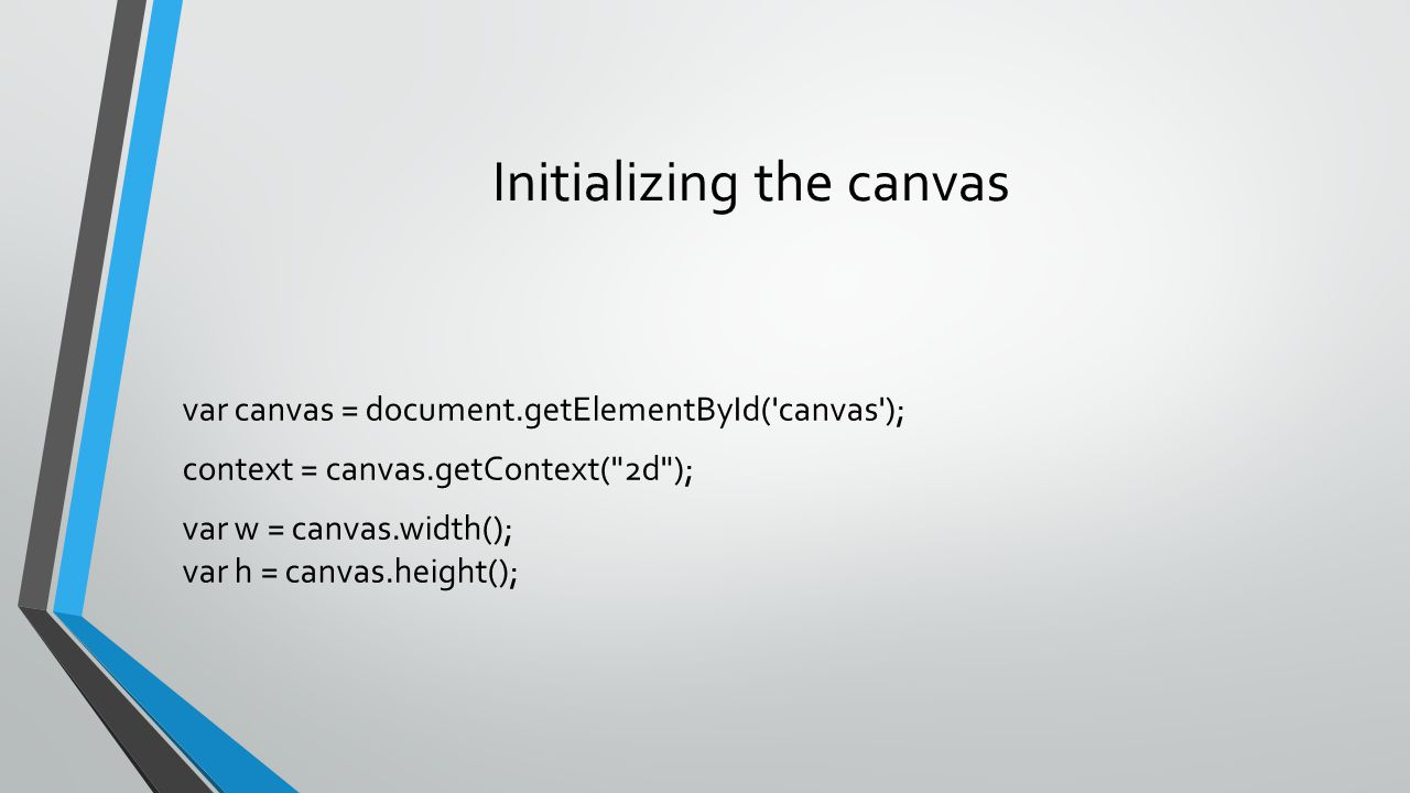 Initializing the canvas