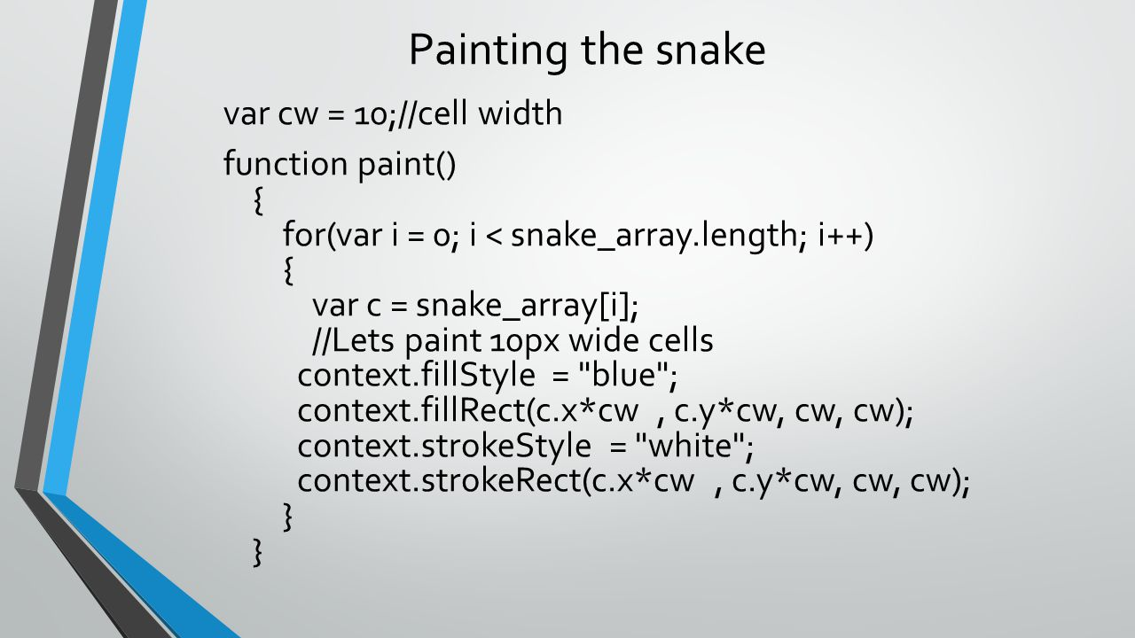 Painting the snake