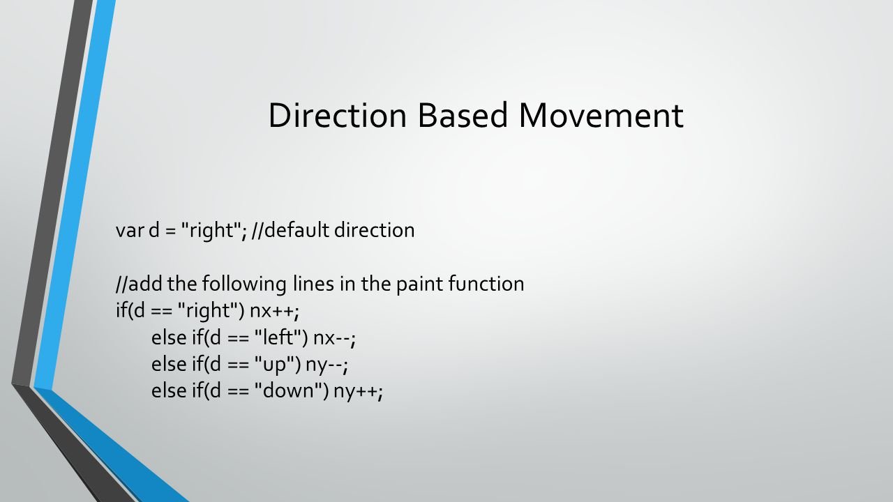 Direction Based Movement