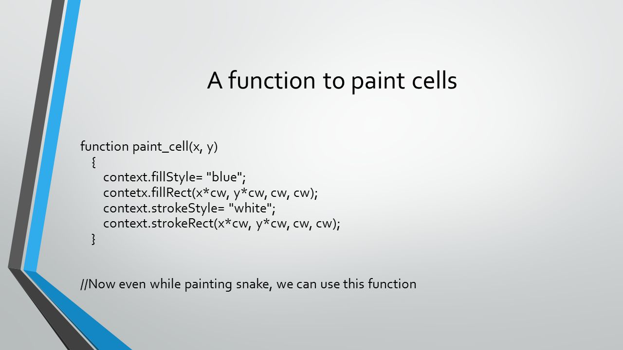 A function to paint cells