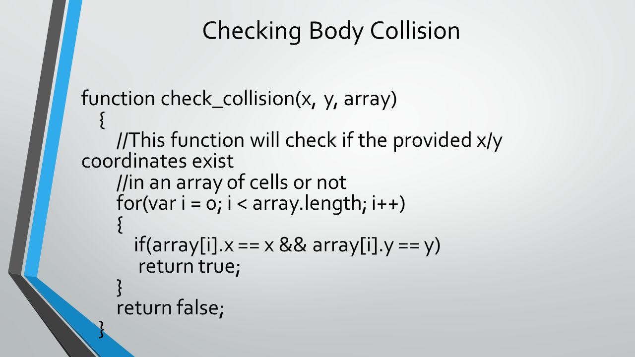 Checking Body Collision