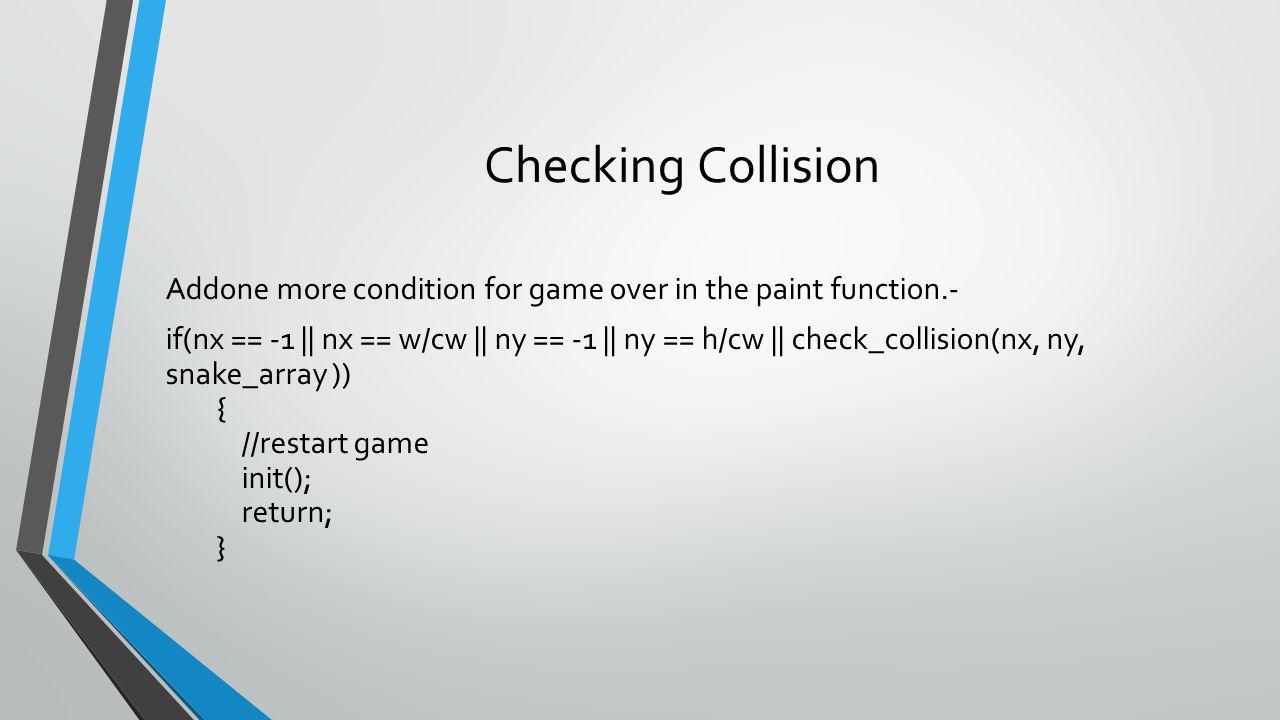 Checking Collision