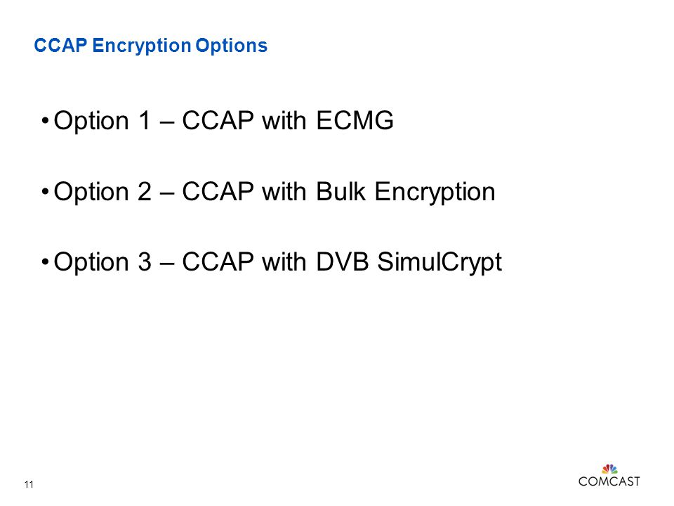 CCAP Encryption Options