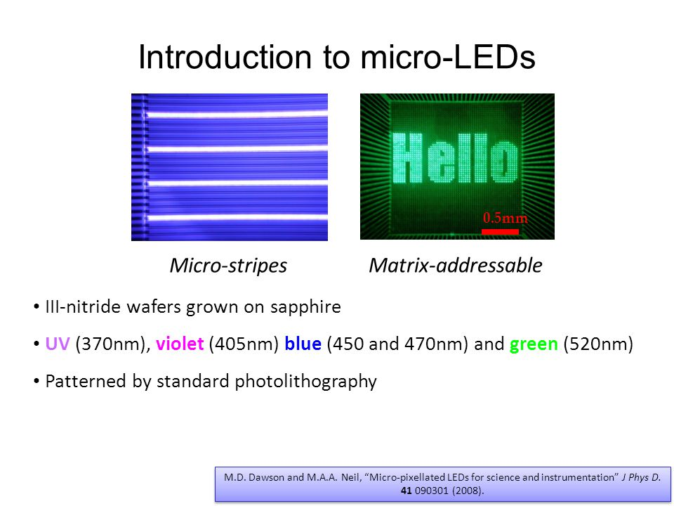 Introduction to micro-LEDs