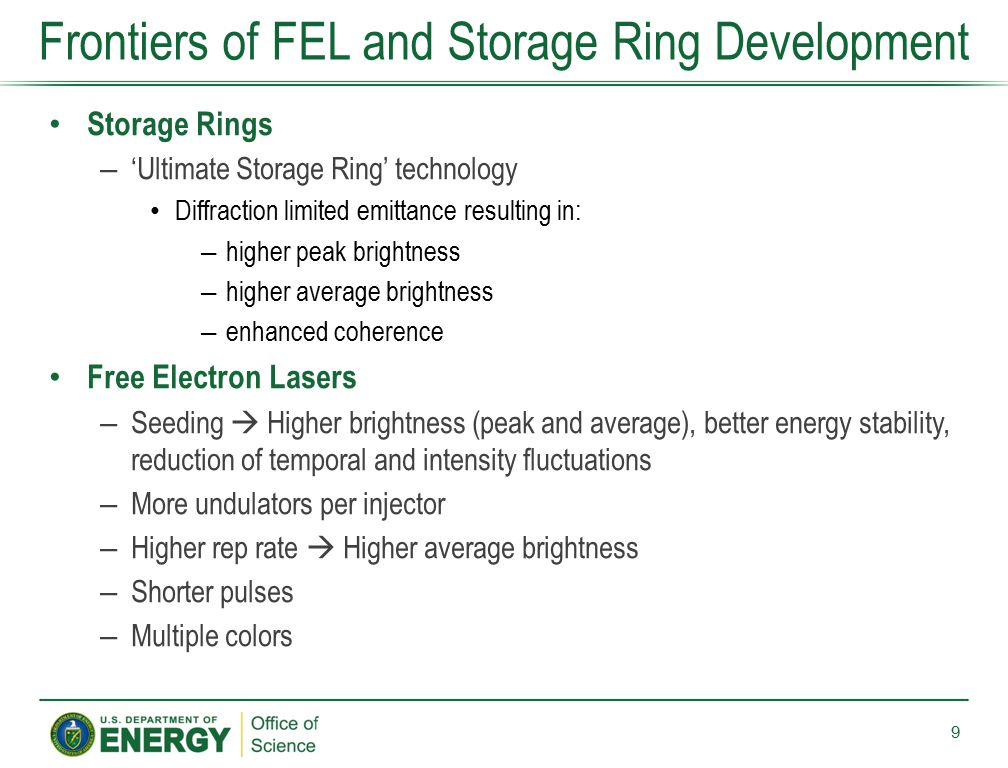 Frontiers of FEL and Storage Ring Development