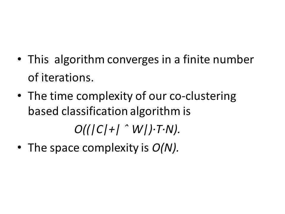 This algorithm converges in a finite number